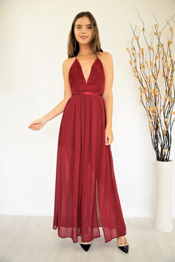 Angela Dress Wine