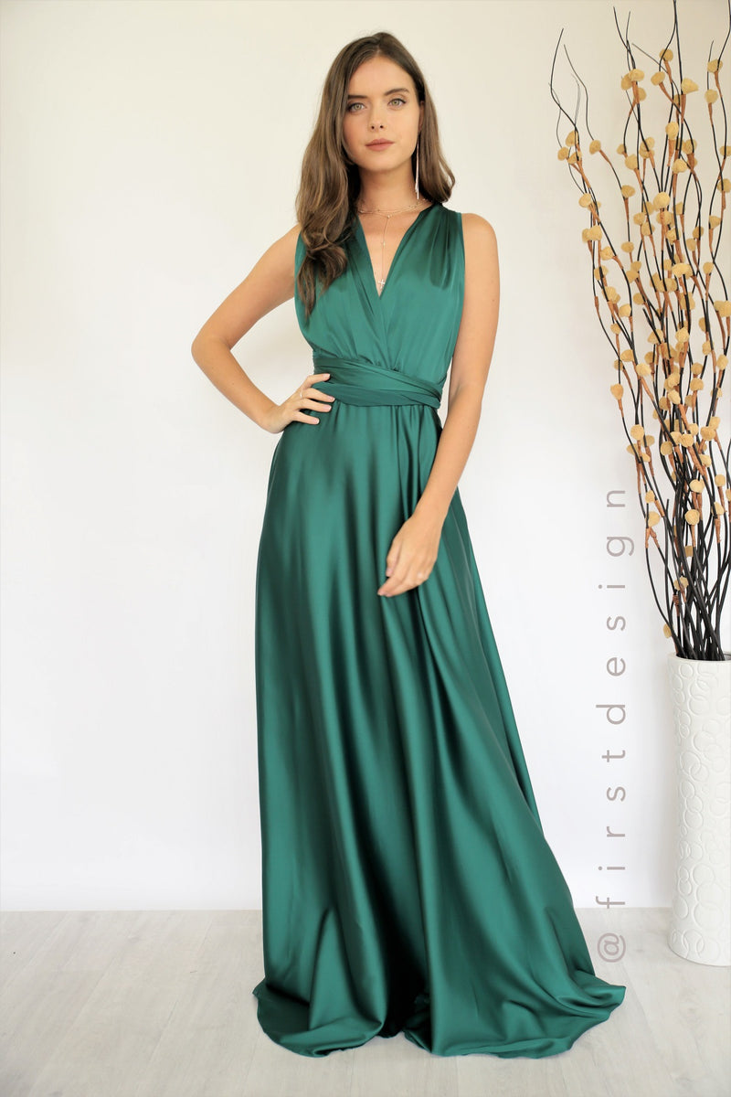 Fantasy Multiway Dress In  Emerald