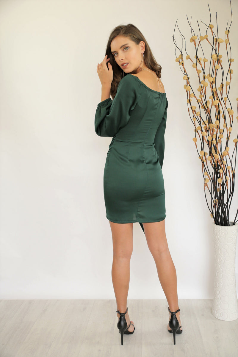Sassy Mini Dress Emerald Green