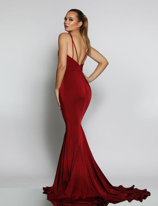 Ellie Gown by Jadore - Wine