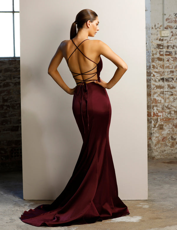 Charlotte Gown By Jadore - Berry