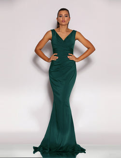 Renee Gown by Jadore in Dark Green