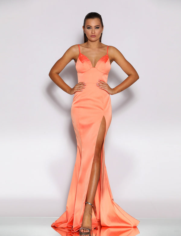 Brooklyn Gown by Jadore in Coral