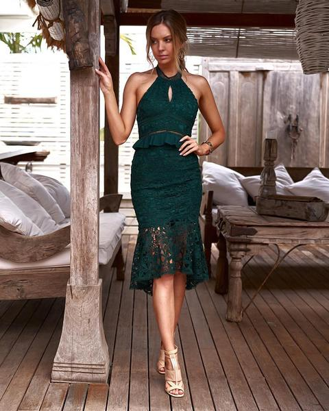 Madison Dress in Green