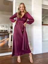Lorisa Maxi Dress - Plum