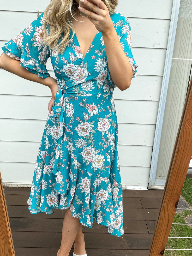 Rossie Wrap Dress - Floral Print