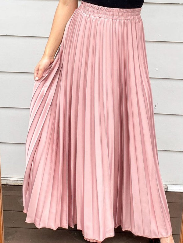 Adella Maxi Skirt - Blush