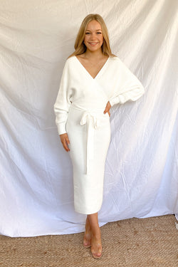 Sambara Knit Dress - White