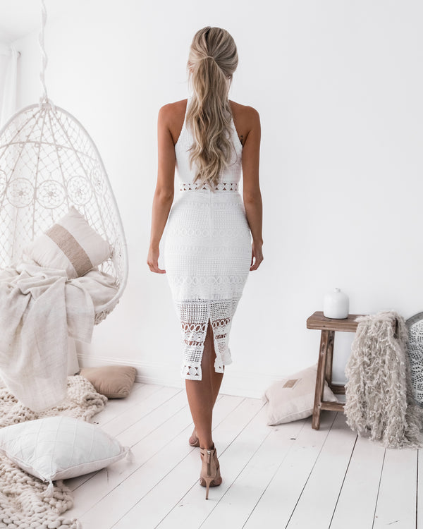 Rivers Midi Dress in White
