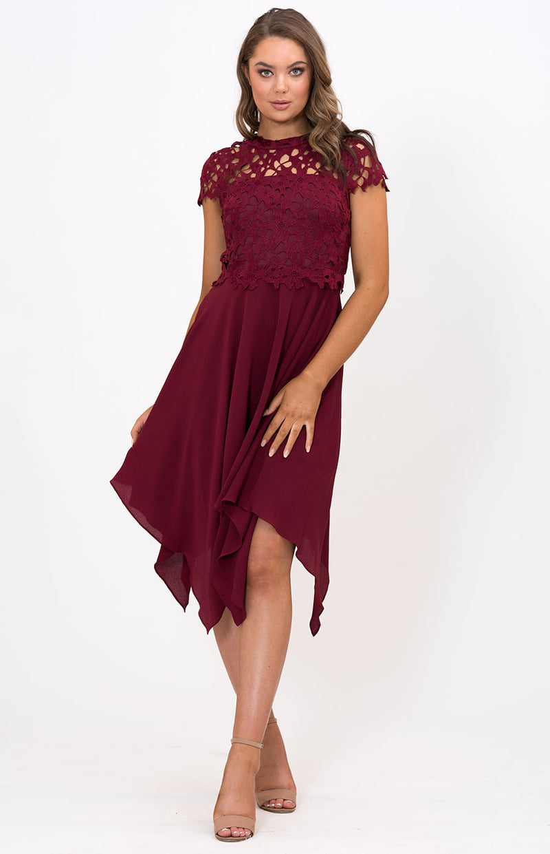 Jacaranda Dress in Burgundy