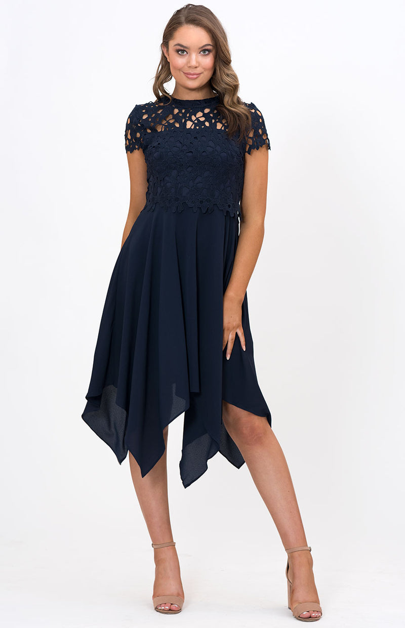 Jacaranda Dress in Navy