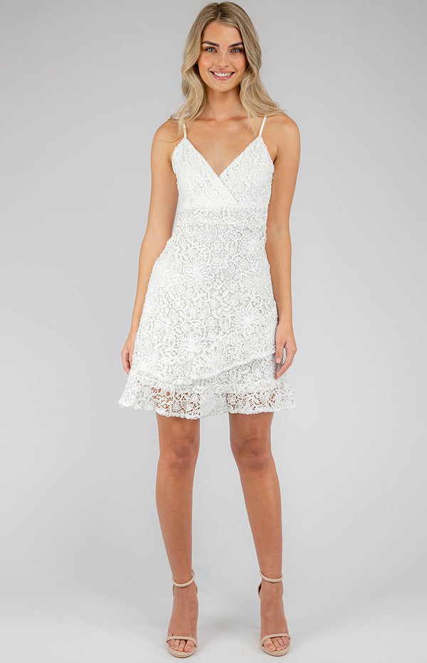 Myran lace Dress In white