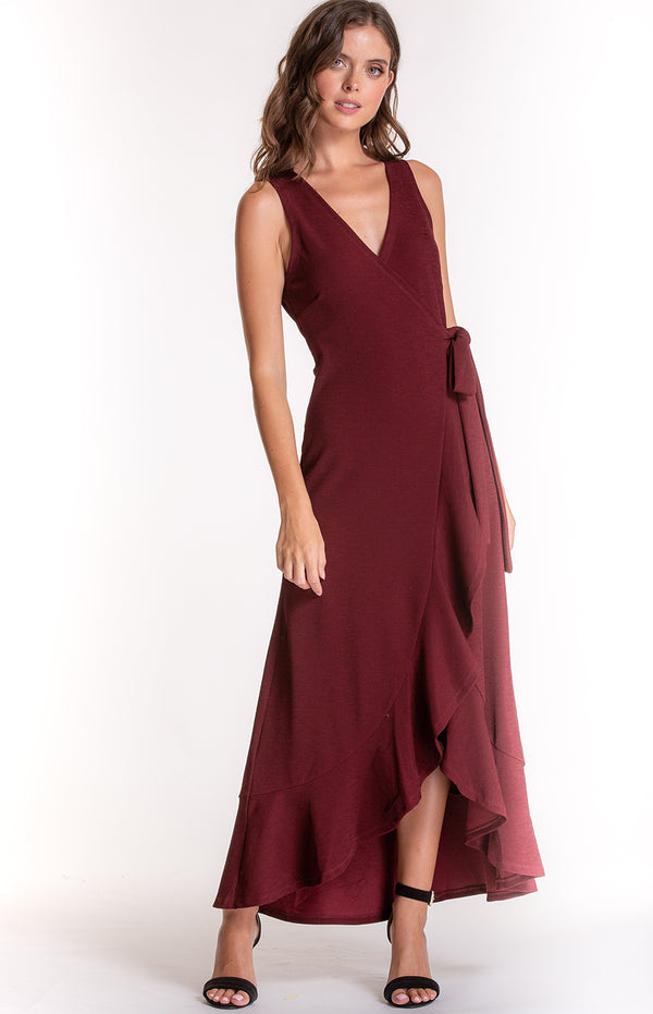 Leah Dress In Wine