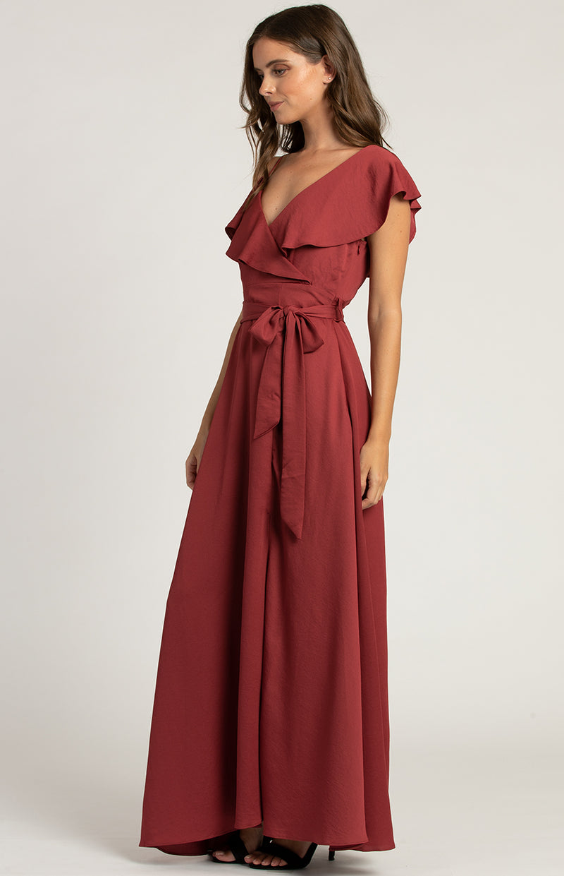 Daisy Maxi Dress In Cherry