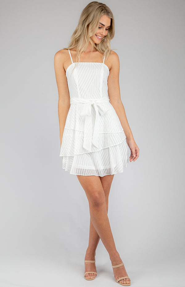 Clarra Mini Dress In White
