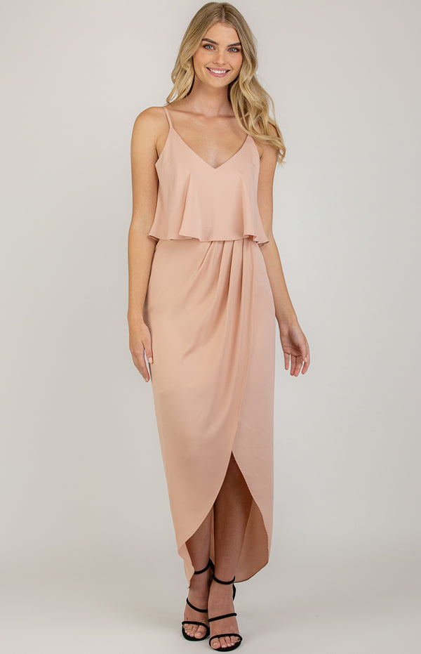 Pipa  pleated Dress - Blush