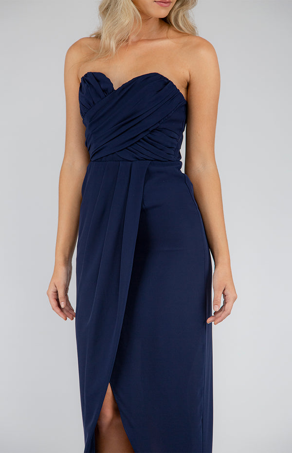 Sweetheart Dress In Navy