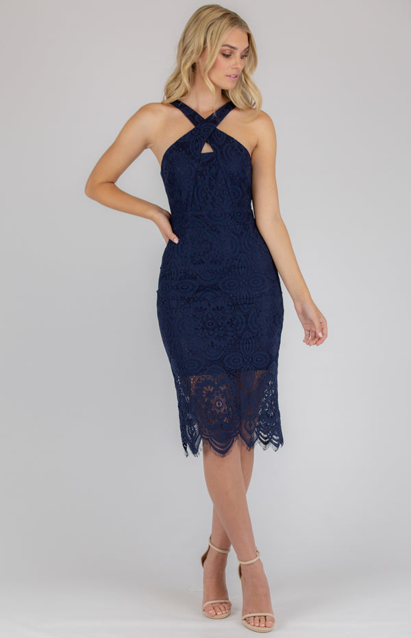Malenie Dress In Navy