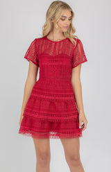 Love Island  Dress In Red