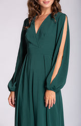 Matrix Jumpsuit In Emerald