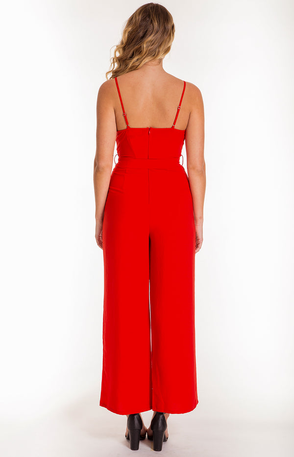 Sunset Jumpsuit In Red