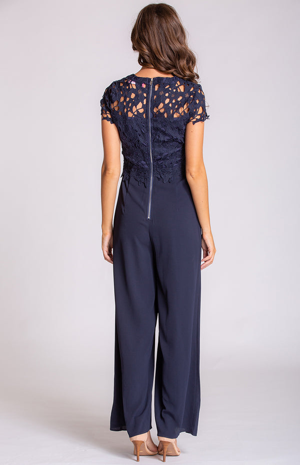 Paisley Jumpsuit In Navy