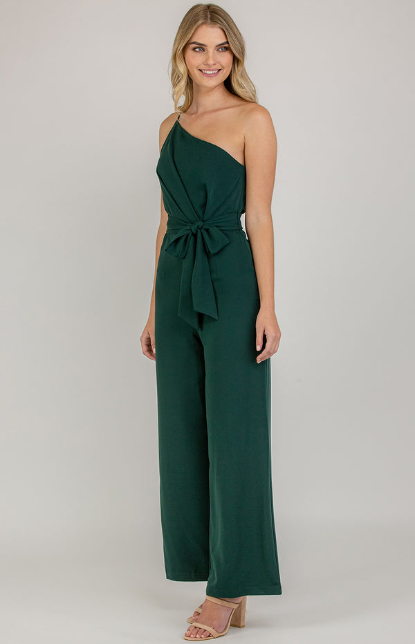 Forget Me Not Jumpsuit In Emerald