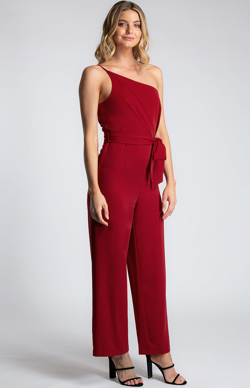 Forget Me Not Jumpsuit In Red
