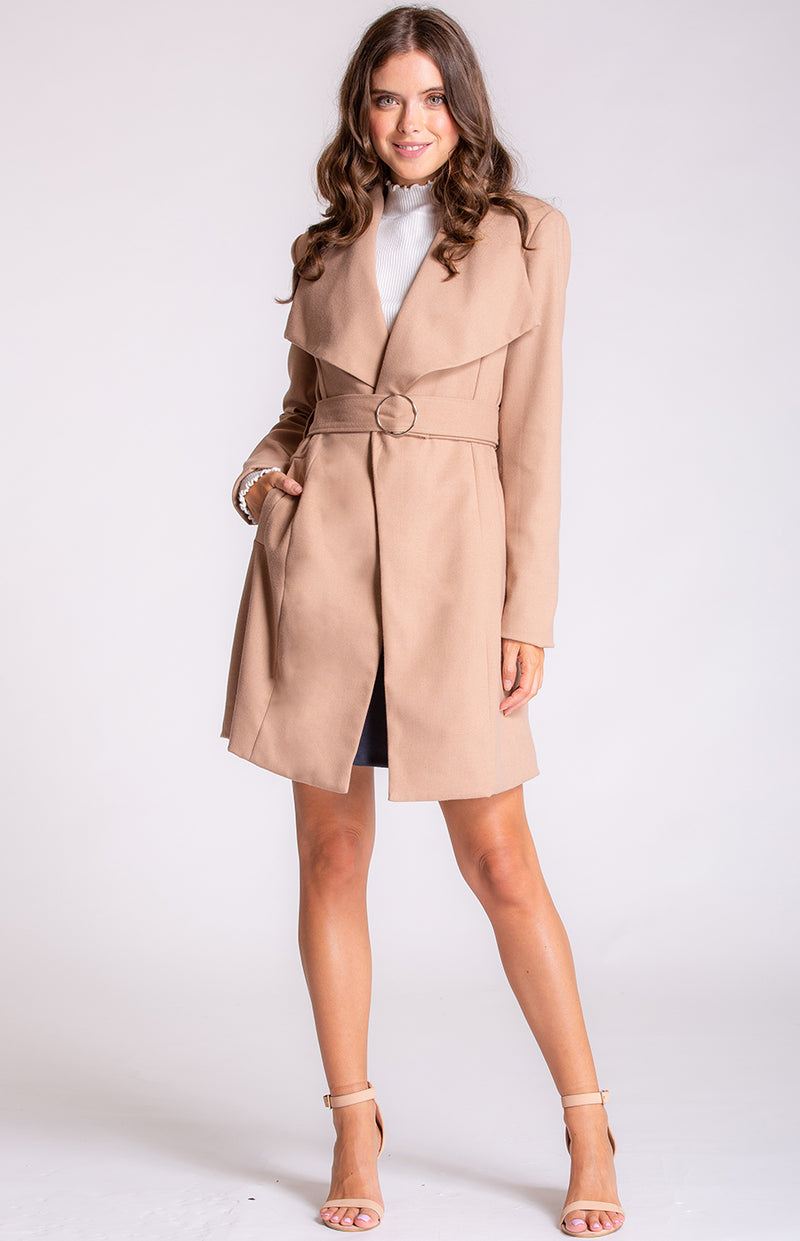 Narella Wool Coat In Camel