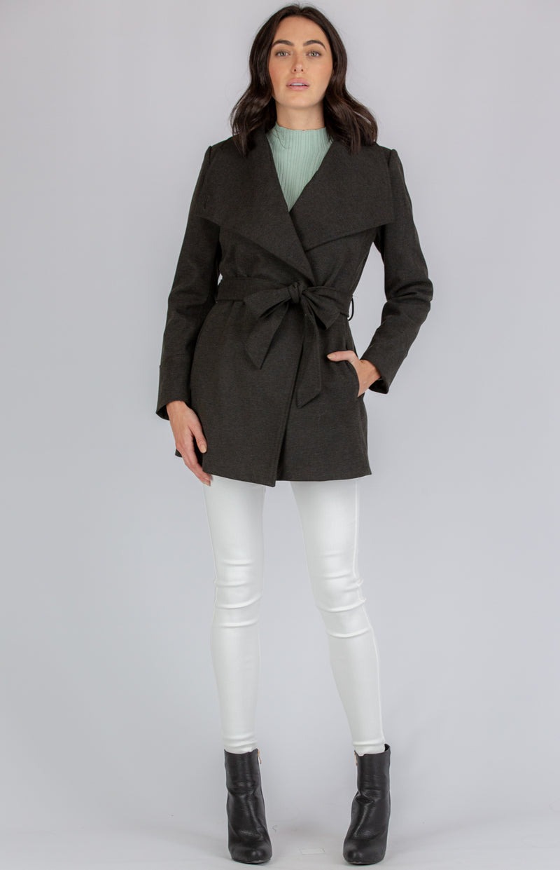 Mila Coat In Charcoal