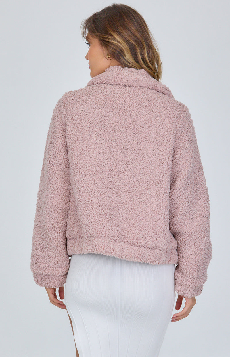 Lucy Fluffy Jacket - Blush