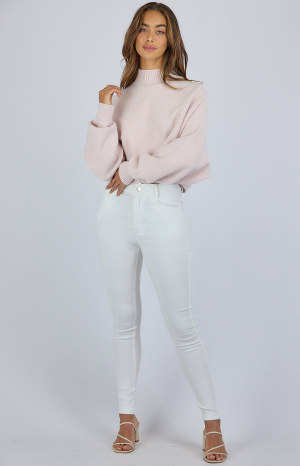 Sammy Knit Top - Blush
