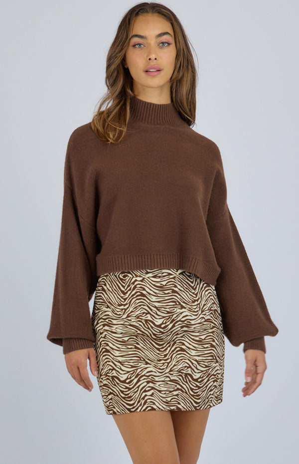 Sammy Knit Top - Chocolate