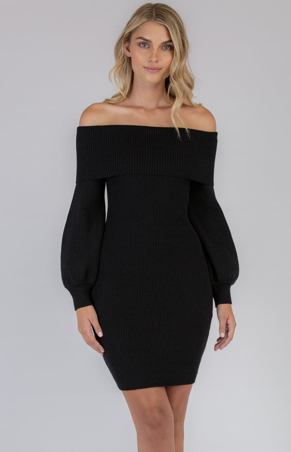 Polly Knit Dress In Black