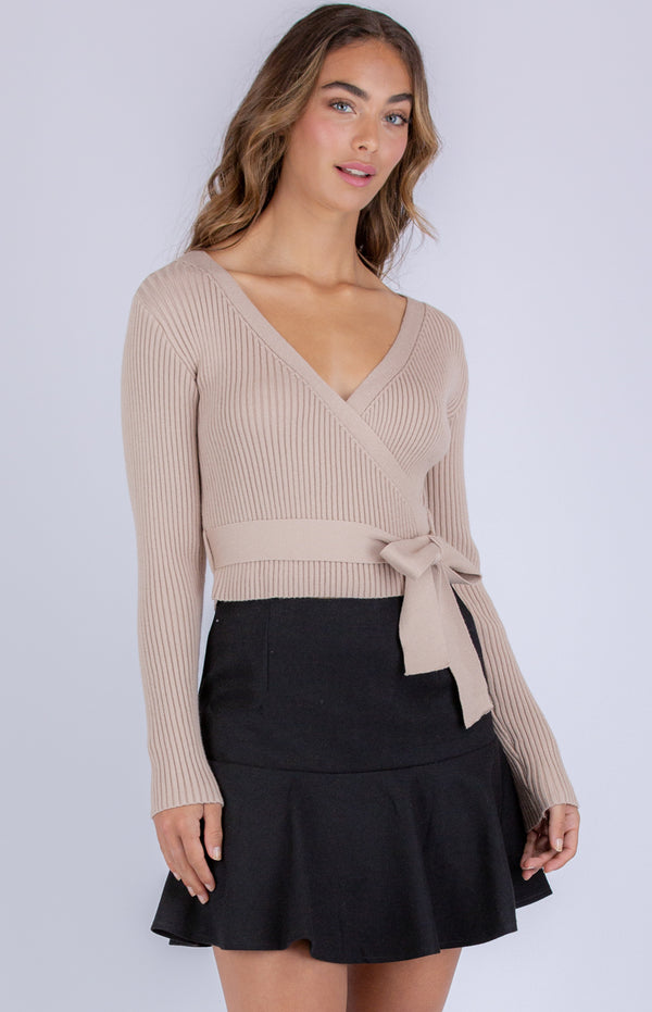 Cara knit Top - Camel