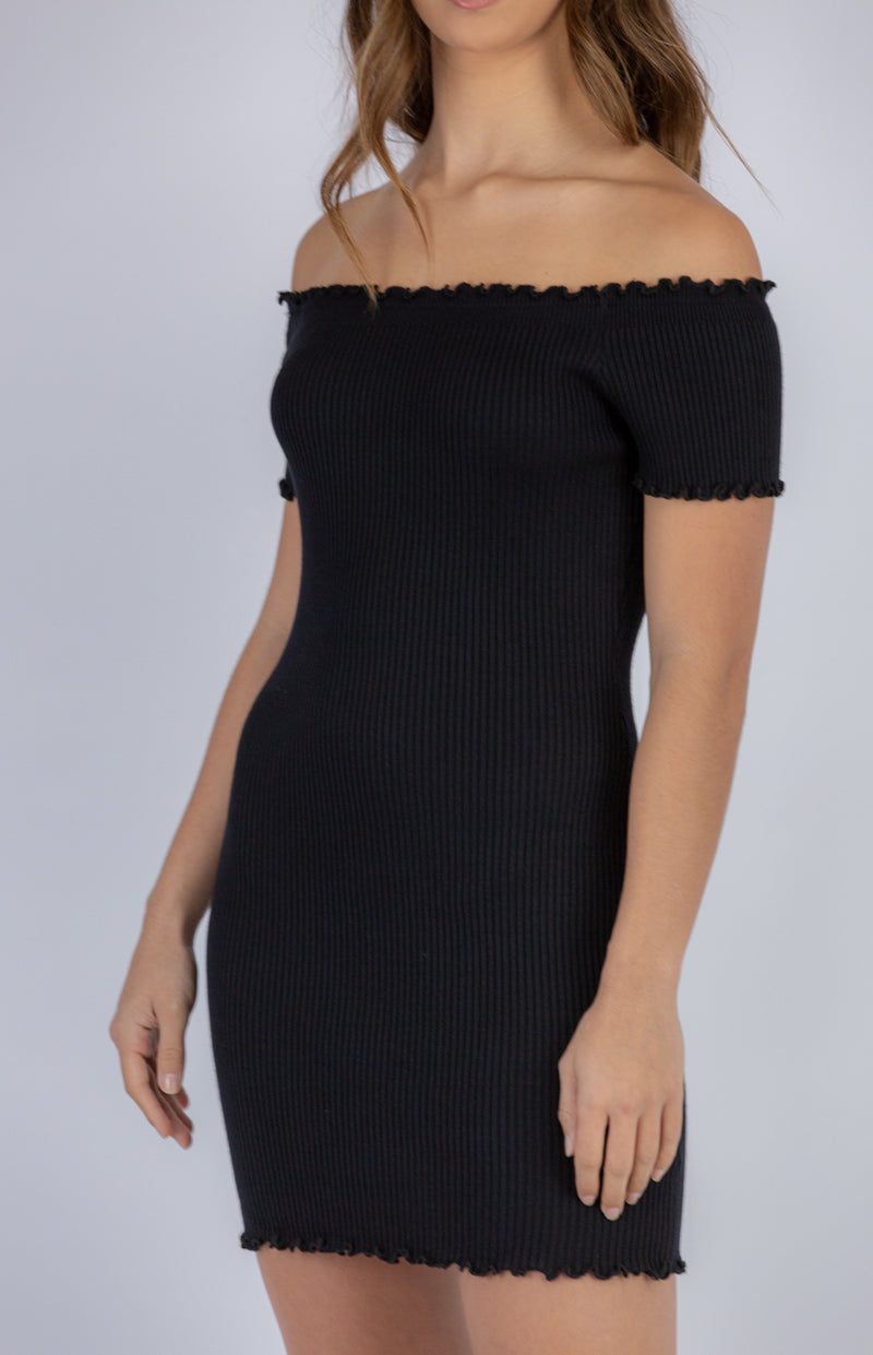 Rosie Mini Knit Dress - Black