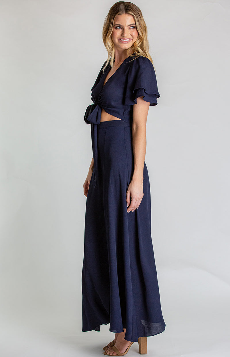 Honey Maxi Skirt Set -Navy