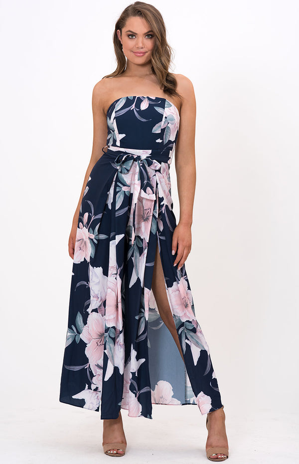 Lola Jumpsuit in Navy Floral