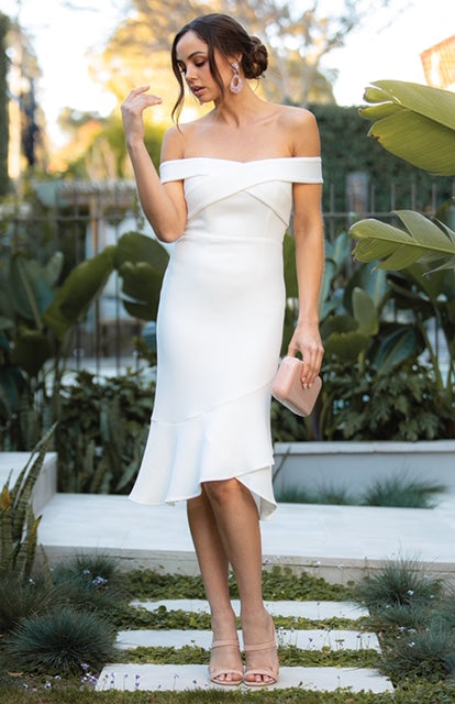 Alana Midi Dress - White