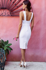 Tasha Midi Dress White