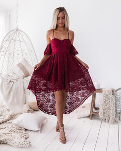 Karlie Dress in Wine