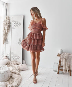 Olivia Dress in  Mauve