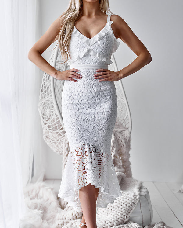 Leanne Dress in White