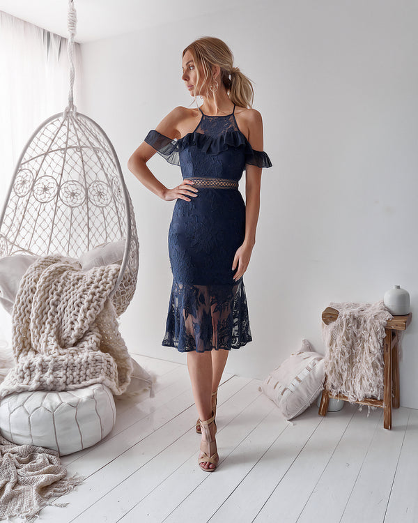 Connie Dress in Navy
