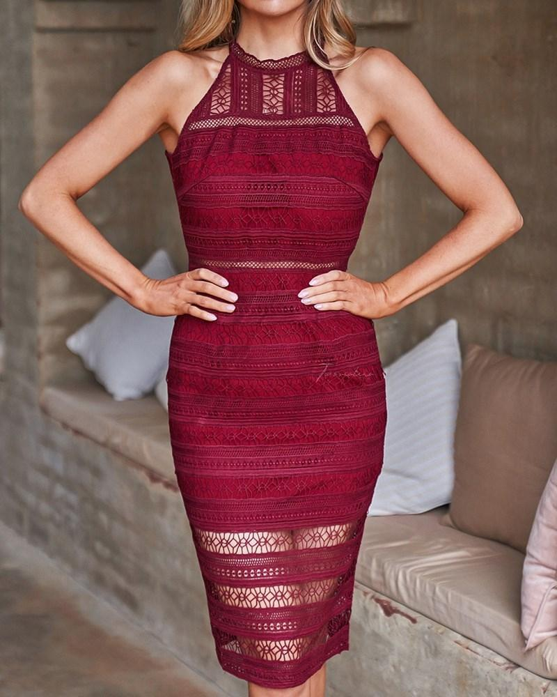 Tamsin Dress In Red