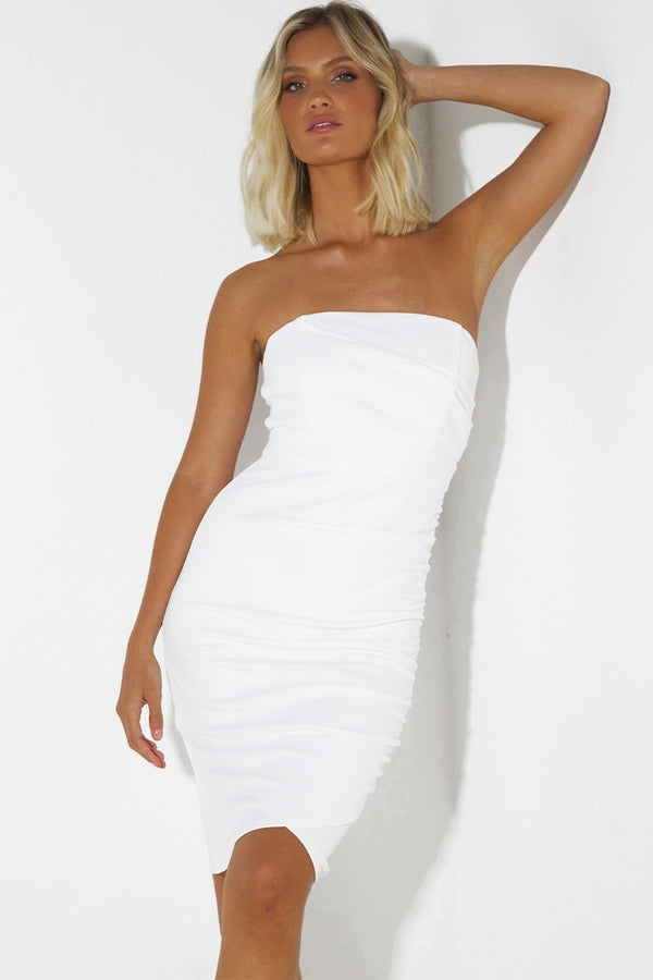 Tex Dress In White