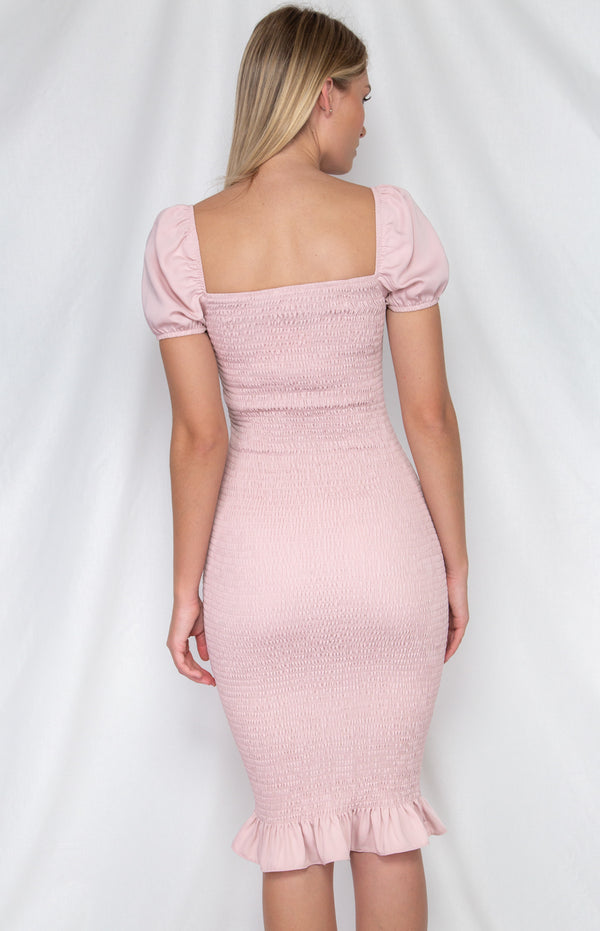Lana Midi  Dress - Blush