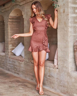 Gracie Mini Dress In Mauve