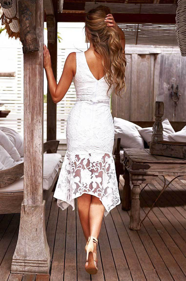 Ivory Dress In White