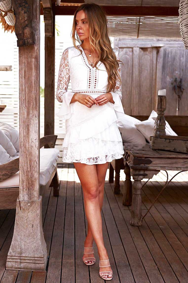 Preen Dress In White